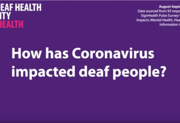 The Effect of Coronavirus on the Deaf community